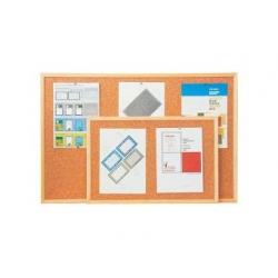 Korková tabule v dřevěném rámu 80x60 cm