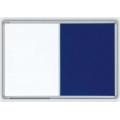Kombinovaná tabule v ALU23 rámu 90x60 cm bílá magnetická/filcová