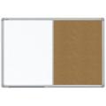 Kombinovaná tabule v ALU23 rámu 90x60 cm bílá magnetická/korková