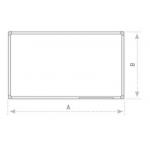 Keramická tabule s matným povrchem 120x200 cm
