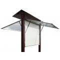 Oboustranná vitrína hliník a dřevo 1000x2010 mm