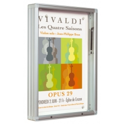 Vývěsková vitrína 3000 výklopná jednostranná 1710x1350 mm
