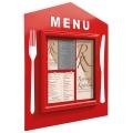Restaurační vitrína Čtvercové menu 750 x750 mm