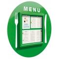 Restaurační vitrína Kruhové menu 750x750 mm