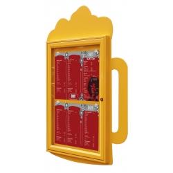 Restaurační vitrína Půllitr piva 750x550 mm