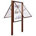 Vývěsková vitrína 2000 výklopná jednostranná 1350x1710 mm