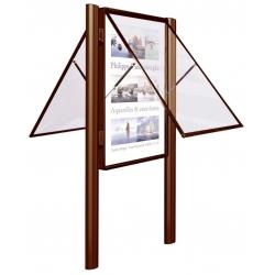 Vývěsková vitrína 2000 výklopná oboustranná 1710x1350 mm